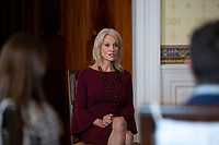 Senior Counselor Kellyanne Conway speaks during a listening session with youth from the Truth Initiative, ages 13 to 18, at the White House in Washington D.C., U.S. on October 9, 2019. <br /> <br /> Credit: Stefani Reynolds / CNP / MediaPunch