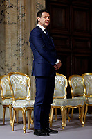 Italian premier Giuseppe Conte<br /> Rome December 19th 2018. Quirinale. Traditional exchange of Christmas wishes between the President of the Republic and the institutions.<br /> Foto Samantha Zucchi Insidefoto