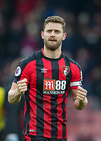 Simon Francis of AFC Bournemouth at full time during the Premier League match between Bournemouth and Arsenal at the Goldsands Stadium, Bournemouth, England on 14 January 2018. Photo by Andy Rowland.
