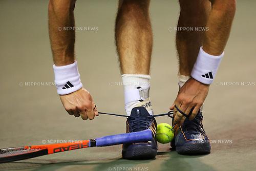 Andy Murray (GBR), .September 30, 2012 - Tennis : .Rakuten Japan Open 2012, ATP Sunday .at Ariake Colosseum, Tokyo, Japan. .(Photo by Daiju Kitamura/AFLO SPORT) [1045]