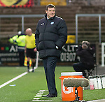 Forfar Athletic v St Johnstone....08.02.14   Scottish Cup 5th Round<br /> A wry smile from Tommy Wright<br /> Picture by Graeme Hart.<br /> Copyright Perthshire Picture Agency<br /> Tel: 01738 623350  Mobile: 07990 594431