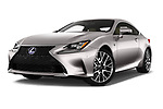 Stock pictures of low aggressive front three quarter view of 2017 Lexus RC F-SPORT-Line 2 Door Coupe Low Aggressive
