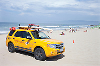 Ford Escape Hybrid Lifeguard vehicle parked on Venice Beach, California, USA