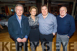 PJ Murrihy, Eileen McCarthy, Patrick O'Sullivan and Tom O'Donoghue attending the Recovery Haven fundraiser in the Ballygarry House Hotel on Monday.