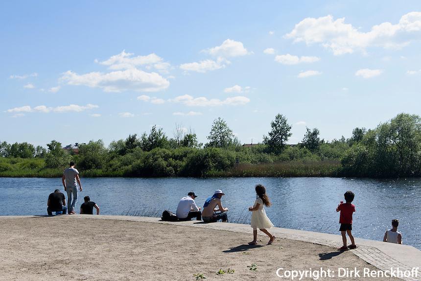Fluss bei Tivili Kristianstad, Provinz Sk&aring;ne (Schonen), Schweden, Europa<br /> river near Tivoli  in Kristianstad, Province Sk&aring;ne, Sweden