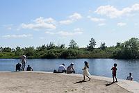 Fluss bei Tivili Kristianstad, Provinz Skåne (Schonen), Schweden, Europa<br /> river near Tivoli  in Kristianstad, Province Skåne, Sweden