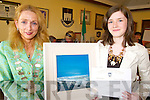 CIVIC AWARD: Receiving a special civic award on behalf of Tralee Town Council from Mayor Miriam McGillycuddy on Friday was 2007 Young Scientist winner, Emer Jones.   Copyright Kerry's Eye 2008