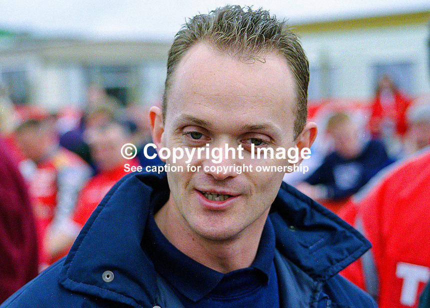 Philip McCallan, Tandragee, N Ireland, racing motorcyclist. 199805027...Copyright Image from Victor Patterson, 54 Dorchester Park, Belfast, UK, BT9 6RJ..Tel: +44 28 9066 1296.Mob: +44 7802 353836.Voicemail +44 20 8816 7153.Skype: victorpattersonbelfast.Email: victorpatterson@mac.com.Email: victorpatterson@ireland.com (back-up)..IMPORTANT: If you wish to use this image or any other of my images please go to www.victorpatterson.com and click on the Terms & Conditions. Then contact me by email or phone with the reference number(s) of the image(s) concerned.