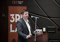 "Steve Kling, Associate Partner, McKinsey & Company<br /> Occidental College's thought-provoking Third L.A. series presents, ""L.A. House and Home: New Paths in Housing Policy and Residential Architecture"" on Monday, December 2, 2019 in Choi Auditorium and moderated by Christopher Hawthorne, Oxy professor of practice and Chief Design Officer, Design Office, the Mayor's Office of Economic Development.<br /> This 3rd L.A. event brought together policymakers and leading architects as they discussed and summarized L.A.'s homelessness, housing affordability and single-family zoning, which are squarely at the top of the policy agenda across California. Furthermore, Los Angeles is engaged in a growing national conversation around the relationship between good design and good housing and the legacies of redlining and exclusionary zoning.<br /> (Photo by Marc Campos, Occidental College Photographer)"