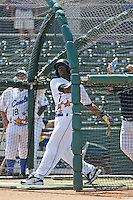 Winston-Salem Dash outfielder Justin Greene of the Carolina League All-Stars taking batting practice before the California League vs. Carolina League All-Star game held at BB&T Coastal Field in Myrtle Beach, SC on June 22, 2010. The California League All-Stars defeated the Carolina League All-Stars by the score of 4-3.  Photo By Robert Gurganus/Four Seam Images