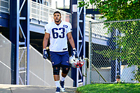 July 28, 2017: New England Patriots offensive lineman Tony Garcia (63) walks to the practice fields for the New England Patriots training camp held at Gillette Stadium, in Foxborough, Massachusetts. Eric Canha/CSM
