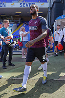 Leroy Fer of Swansea City exits the tunnel to warm up prior to the Sky Bet Championship match between Ipswich Town an Swansea City at Portman Road Stadium, Ipswich, England, UK. Monday 22 April 2019