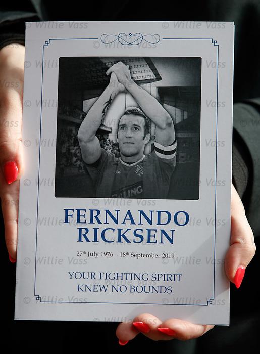 25.09.2018 Funeral service for Fernando Ricksen: Order of service