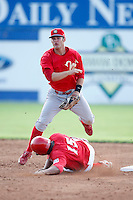 August 2, 2009:  Jeremy Barnes of the Williamsport Crosscutters during a game at Dwyer Stadium in Batavia, NY.  Williamsport is the Short-Season Class-A affiliate of the Philadelphia Phillies.  Photo By Mike Janes/Four Seam Images