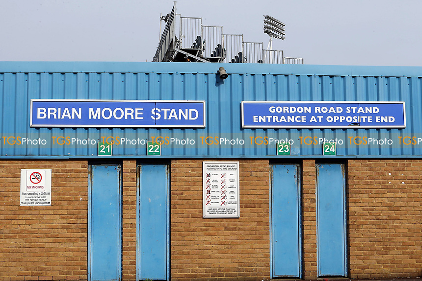 Turnstile entrance to the Brain Moore Stand at Gillingham FC during Gillingham vs Scunthorpe United, Sky Bet EFL League 1 Football at the MEMS Priestfield Stadium on 11th March 2017