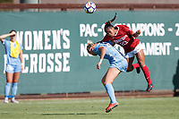 STANFORD, CA - September 9, 2018: Stanford Women's Soccer wins 2-1 over UNC at Cagan Stadium.