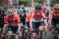 Tiesj Benoot (BEL/Lotto-Soudal) in the mix<br /> <br /> 58th De Brabantse Pijl 2018 (1.HC)<br /> 1 Day Race: Leuven - Overijse (BEL/202km)