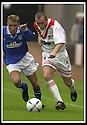 17/8/02               Copyright Pic : James Stewart                     .File Name : stewart-airdrie v stranraer 16.AIRDRIE'S WILLIAM MCVEY GETS AWAY FROMFRASER WRIGHT.....James Stewart Photo Agency, 19 Carronlea Drive, Falkirk. FK2 8DN      Vat Reg No. 607 6932 25.Office : +44 (0)1324 570906     .Mobile : + 44 (0)7721 416997.Fax     :  +44 (0)1324 570906.E-mail : jim@jspa.co.uk.If you require further information then contact Jim Stewart on any of the numbers above.........