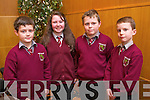 Cian Brodrick, Joanna Murphy, Brian Murphy and Ewan Murphy from Knockaclarig N S, Brosna Tralee at the Tralee Credit Union Primary Schools Quiz, held at Ballyroe Heights Hotel on Sunday