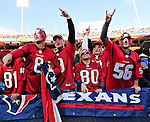 1 November 2009: Houston Texan fans cheer their team during a game against the Buffalo Bills at Ralph Wilson Stadium in Orchard Park, New York, USA. The Texans defeated the Bills 31-10. Mandatory Credit: Ed Wolfstein Photo