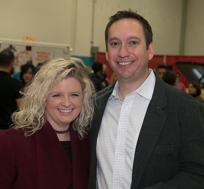 Jessica and Tim Clausen during the Jack T. Reviglio Cioppino Feed & Auction at the Donald W. Reynolds Facility in Reno on Saturday, February 25, 2017.