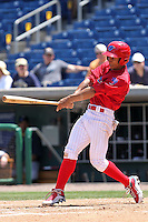 April 14, 2010 Outfielder Anthony Gose of the Clearwater Threshers, Florida State League Class-A affiliate of the Philadelphia Phillies, during a game at Bright House Networks Field in Clearwater Fl. Photo by: Mark LoMoglio/Four Seam Images