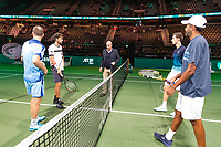 Rotterdam, The Netherlands, 15 Februari 2019, ABNAMRO World Tennis Tournament, Ahoy, quarter finals, doubles, Robin Haase (NED) / Matwe Middelkoop (NED) - Rajeev Ram (USA) / Joe Salisbury (GBR),   <br />