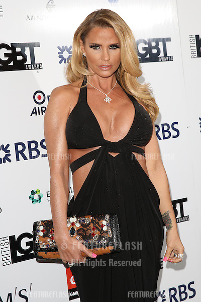 Katie Price at The British LGBT Awards at the Grand Connaught Rooms, London.<br /> May 13, 2016  London, UK<br /> Picture: James Smith / Featureflash