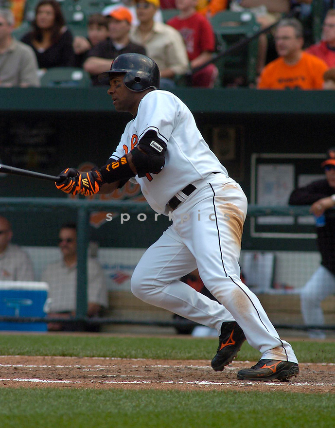 Miguel Tejada in action during the Baltimore Orioles v. Tampa Bay Devil Rays game on May 1, 2005.....Orioles won 7-4.....Chris Bernacchi/Sportpics..