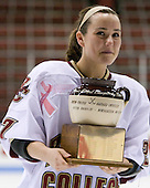 Lauren Wiedmeier (Boston College - 27) - The Boston College Eagles defeated the Harvard University Crimson 1-0 to win the Beanpot on Tuesday, February 10, 2009, at Matthews Arena in Boston, Massachusetts.