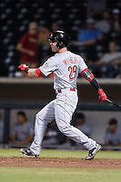 Surprise Saguaros outfielder Jesse Winker (29) during an Arizona Fall League game against the Mesa Solar Sox on October 10, 2014 at Cubs Park in Mesa, Arizona.  Surprise defeated Mesa 14-3.  (Mike Janes/Four Seam Images)