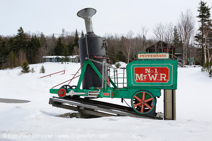 Peppersass -  The World's first cog locomotive on display at Marshfield Station which is at the base of the Mount Washington Cog Railway in the White Mountains, New Hampshire USA