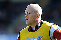 Mike Tindall of Gloucester Rugby warms up during the Aviva Premiership match between London Wasps and Gloucester Rugby at Adams Park on Sunday 1st April 2012 (Photo by Rob Munro)