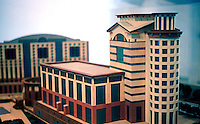 "Michael Graves: Model ""Aventine"" Project, March 1986 for $190 Million Office-Hotel, San Diego.  Photo '86."