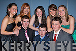 ..CLOTHS: Looking good in the Mercy Mounthawk TY Fashion Shoe in the school gym on Wednesday Front l-r: Sean Williams, Maurice O'Sullivan and Brian Daly. Back l-r: Naomi Reidy, Jessica Irwin, Stacey Stack, Sadhbh Baker, Jillian Carroll.......   Copyright Kerry's Eye 2008