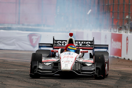 2017 Verizon IndyCar Series - Firestone Grand Prix of St. Petersburg<br /> St. Petersburg, FL USA<br /> Sunday 12 March 2017<br /> Sebastien Bourdais celebrates with donuts<br /> World Copyright: Phillip Abbott/LAT Images<br /> ref: Digital Image lat_abbott_stp_0317_13069