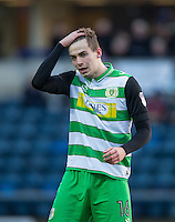 Matt Butcher of Yeovil Town during the Sky Bet League 2 match between Wycombe Wanderers and Yeovil Town at Adams Park, High Wycombe, England on 14 January 2017. Photo by Andy Rowland / PRiME Media Images.