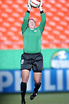 "16 October 2004: Kristin Luckenbill before the game. The United States defeated Mexico 1-0 at Arrowhead Stadium in Kansas City, MO in an women's international friendly soccer game as part of the U.S.'s ""Fan Celebration Tour.""."
