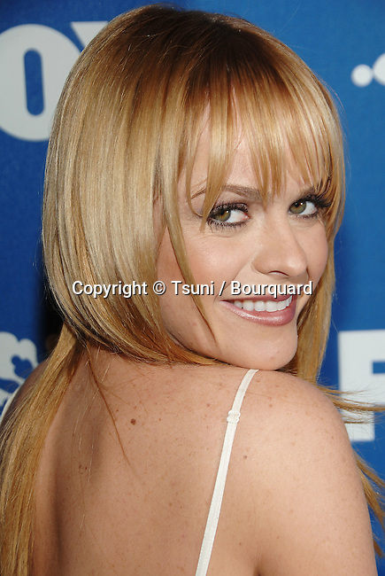 Taryn Manning ( Drive ) arriving at the FOX tca Winter Party at the Sorriso restaurant in Pasadena In Los Angeles. January 20, 2007.<br /> <br /> eye contact<br /> smile<br /> portrait<br /> headshot<br /> over the shoulder