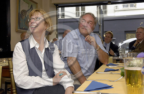 .-- NOT FOR PUBLICATION - for private use only --..Brussels-Belgium - 24 July 2007---Farwell for / with Ambassador Dr. Wilhelm Schönfelder, at 'La Flute Enchantée', initiated and organized by German journalists---Photo: Horst Wagner/eup-images
