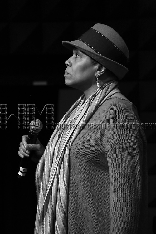 Dee Dee Bridgewater performing during rehearsals for the 'Broadwayworld.com visits OZ, our 10th Anniversary Concerts'  at Joe's Pub at The Public Theater on January 20, 2014 in New York City