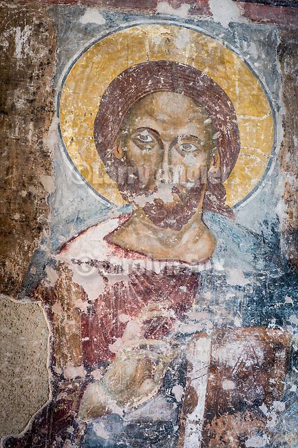 Frescoe within the church at the Monastery Miloševa, Serbia originally built in the 13th century.