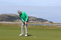 Tiernan McLarnon from Ireland on the 3rd green during Round 2 Singles of the Men's Home Internationals 2018 at Conwy Golf Club, Conwy, Wales on Thursday 13th September 2018.<br /> Picture: Thos Caffrey / Golffile<br /> <br /> All photo usage must carry mandatory copyright credit (&copy; Golffile | Thos Caffrey)