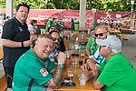 05.07.2019, Parkstadion, Zell am Ziller, AUT, TL Werder Bremen - Tag 01<br /> <br /> im Bild / picture shows <br /> <br /> Dr. Hubertus Hess-Grunewald (Geschäftsführer Organisation & Sport SV Werder Bremen) begruesst die FANS<br /> <br /> <br /> Foto © nordphoto / Kokenge