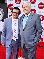 "HOLLYWOOD, LOS ANGELES, CA, USA - APRIL 10: Ben Mankiewicz, Robert Osborne at the 2014 TCM Classic Film Festival - Opening Night Gala Screening of ""Oklahoma!"" held at TCL Chinese Theatre on April 10, 2014 in Hollywood, Los Angeles, California, United States. (Photo by David Acosta/Celebrity Monitor)"