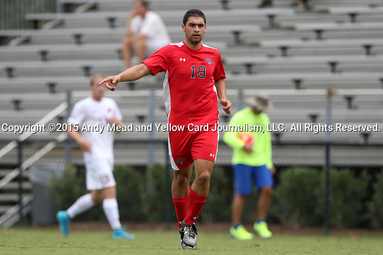 30 August 2015: Saint Mary's Carlo Eikani. The Elon University Phoenix played the Saint Mary's College Gaels at Koskinen Stadium in Durham, NC in a 2015 NCAA Division I Men's Soccer match. Elon won the game 1-0.