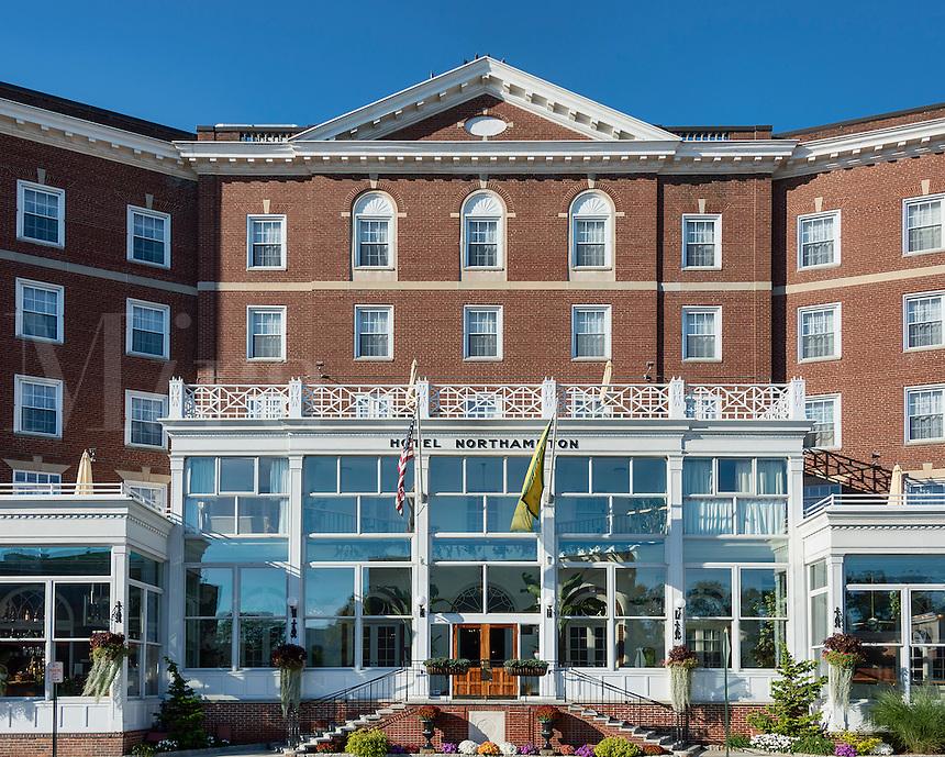 Exterior of the Northhamiton Hotel, Northampton, Massachusetts, USA