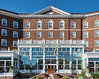 Exterior of the Northhamiton Hotel, Northampton, Massachusetts, USA