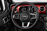 Car pictures of steering wheel view of a 2018 Jeep Wrangler-Unlimited Rubicon 5 Door SUV