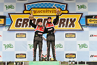IMSA Continental Tire SportsCar Challenge<br /> Biscuitville Grand Prix<br /> Virginia International Raceway, Alton, VA USA<br /> Saturday 26 August 2017<br /> 28, Porsche, Porsche Cayman GT4, GS, Dylan Murcott, Dillon Machavern celebrate the win in victory lane on the podium<br /> World Copyright: Scott R LePage<br /> LAT Images